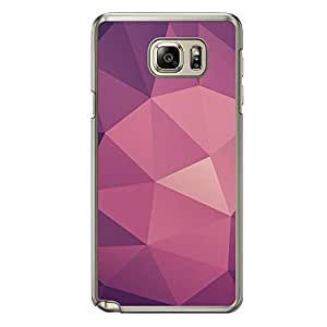 Loud Universe Samsung Galaxy Note 5 Geometrical Printing Files A Geo 10 Printed Transparent Edge Case - Purple