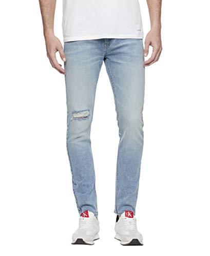 Calvin Klein Men's Skinny Fit Jeans, Cobblestone Blue, 42x32 ()