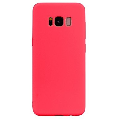 Hermosa casos, cubiertas, para Samsung Galaxy S8Plus S8teléfono móvil TPU Material Candy Color Series teléfono móvil S7Edge S7S6borde S6(color: rosa, Modelos Compatibles: Galaxy S6)