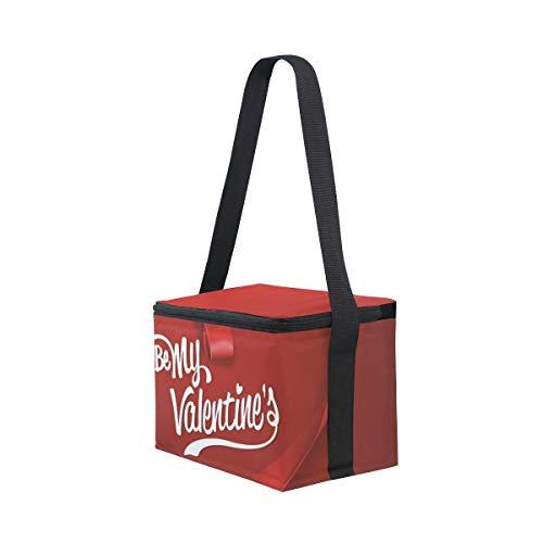 El La Fiambrera Para Hombro Corazón Cinta San Rojo Valentín Correa De Picnic De Almuerzo De Día De Bolsa Enfriador De Feliz q8wRRa