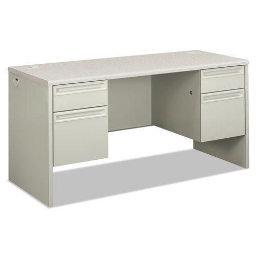 HON 38852B9Q 38000 Series Kneespace Credenza, 60w X 24d X 29 1/2h, Silver Mesh/Light Gray