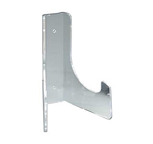 Plate Display Stand- Counter, Cabinet or Wall Mount - Heavy Duty Clear Acrylic - Made in The -
