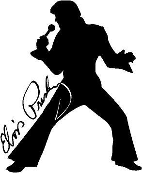 Elvis Dancing With Autograph Wall Decal Sticker for Home Decor 21.5
