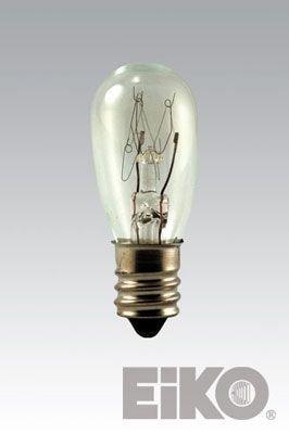 Eiko 6S6/12V S-6 Candelabra Base Halogen Bulb, 12V/6W (12 Volt 6 Watt Bulb)