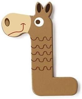 Scratch Buchstabe L Pferd braun 5,5 cm