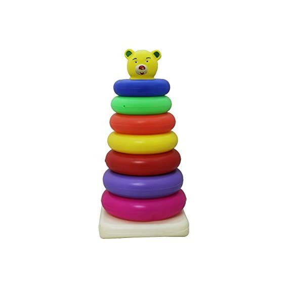 Sahibuy Stacking Colouring Teddy Rings - 7 Rings (Multicolor)