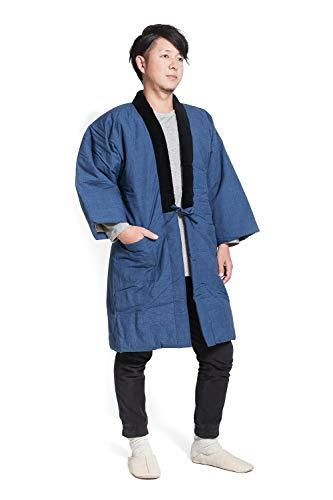 롱 한텐 겉옷 구루메 맨즈 동일본제(MADE IN JAPAN) 대형 남성용 짱코 멋쟁이(원적외선청) 일본 방한복 대형사이즈