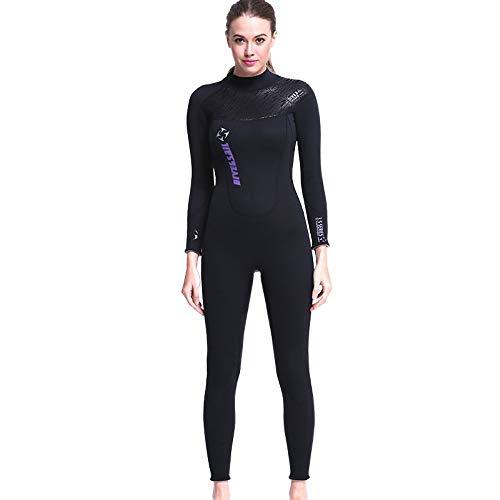 DIVE & SAIL 3MM Neoprene Wetsuit,Full Body Sport Rash Guard Dive Skin Suit Women and Mens Thermal for Diving, Snorkeling, Swimming, Surf Kayak (Thick)