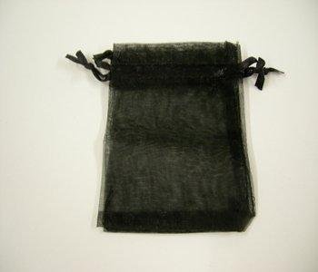 10 pack Black Organza Gift and Favour Bags 7cm x 9cm Weddingandpartystore