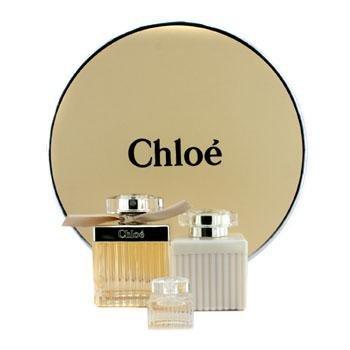 Chloe Chloe Coffret: Eau De Parfum Spray 75ml/2.5oz + Body Lotion 100ml/3.4oz + Miniature 5ml/0.17oz (Round Box) 3pcs ()