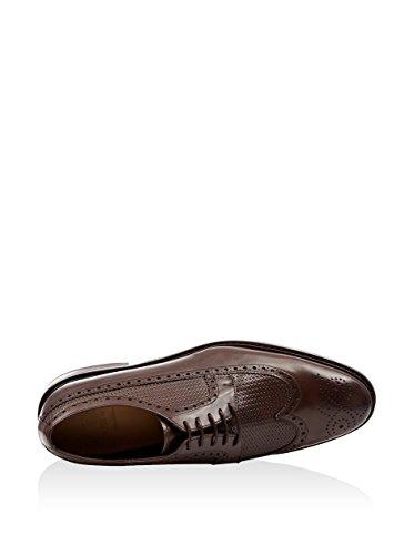 Ortiz & Reed David, Zapatos de Cordones Derby para Hombre Marrón Oscuro