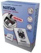 Nilfisk - 107407940 - 4 bolsas de aspiradora + prefiltro: Nilfisk ...