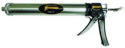 Newborn 224 Bulk/Sausage Standard Smooth Square Rod Caulking Gun, 24 oz. Bulk/10-20 oz. Sausage Packs, 7:1 Thrust Ratio