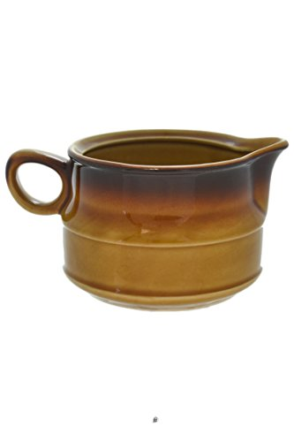- Large 16oz 70's-Style Polish-Ceramic Sahara Brown Gradient Sauce Bowl Gravy Boat