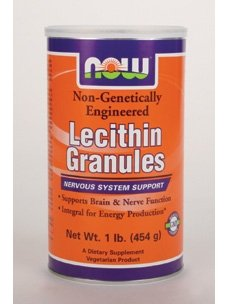 Now Foods Lecithin, 1 GRANULES Cannister Lb SANS OGM