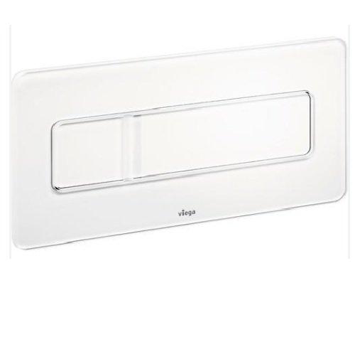 Viega 83571 Flush Plate Visign for More 105 Panel, Chrome Colored Aluminum