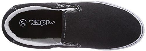 Kappa PEAK Footwear unisex - zapatilla deportiva de lona unisex negro - Schwarz (1110 black/white)