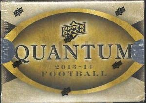 Quantum 2013-14 Football Upper Deck Trading Cards Pack Box (6 cards) (Box Upper 2014 Deck)