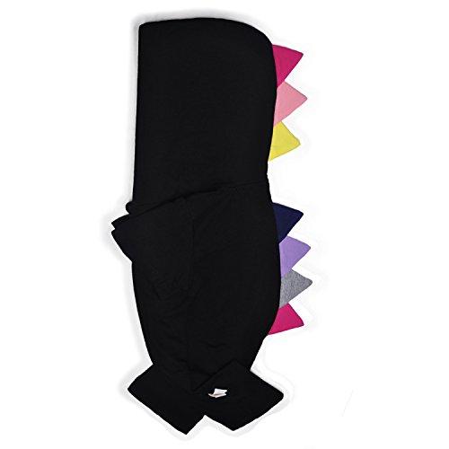 Minilove Baby Dinosaur Short Sleeve Hoodie Jumpsuit(Black(S)) 70/6M