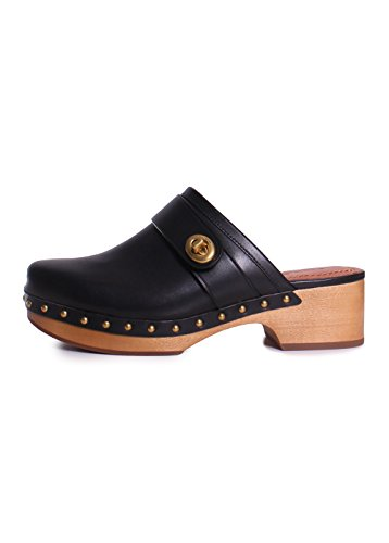 Clog Turnlock Coach Black Leather Womens aAwFxPpq1z