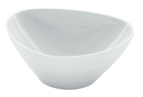 Alessi Colombina 5-3/4-Inch by 5-Inch by 2-1/4-Inch Serving Bowl deep, White Porcelain, Set of 6