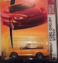 - Matchbox Sports Cars 2007 Ford Mustang Shelby GT500 GT-500 Convertible Grabber Orange #15