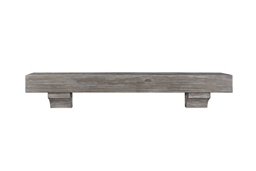 Pearl Mantels 412-60-27 Shenandoah Mantel, 60-Inch, Cottage Gray Distressed