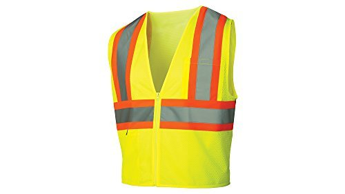 - Pyramex Safety Pyramex RVZ2210FRX4 Lumen X Class 2 Flame Retardant Safety Vest with Zipper, 4X-Large, Hi-Vis Lime