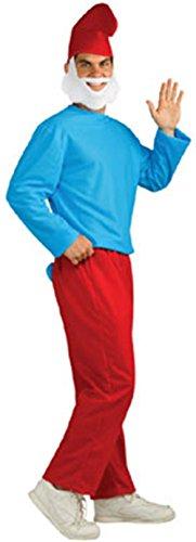 Smurfs Papa Smurf Costume, Red/Blue, X-Large