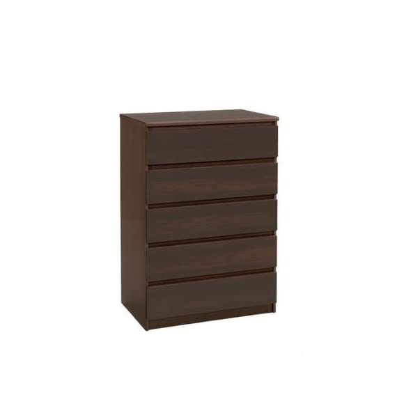 Laguna 5-Drawer Chest, Espresso , PEFC-certified Wood , Metal Drawer Glides -  - dressers-bedroom-furniture, bedroom-furniture, bedroom - 31QhEaJ4a1L. SS570  -