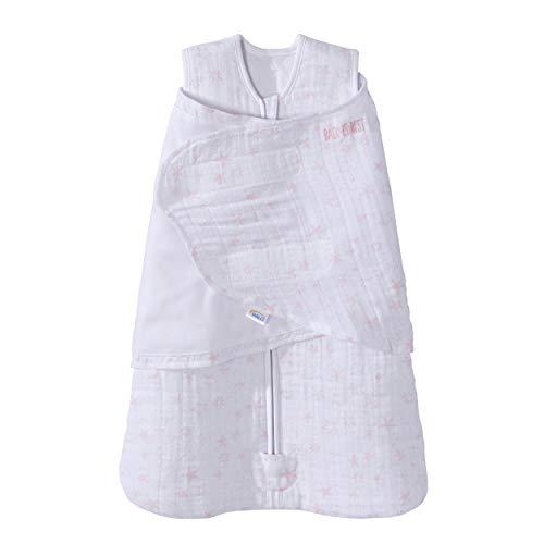 HALO Sleepsack Swaddle NB, Quilted Cotton Muslin, Constellation Pink, Platinum Series