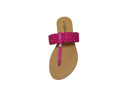 Womens Strappy Gladiator Flate Sommer Sandaler (gs-sandaler) 6311-rosa