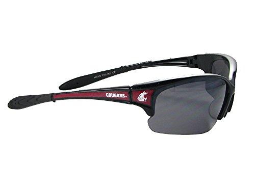 Sports Accessory Store Washington State Cougars WSU Black Crimson Elite Sunglasses S7JT