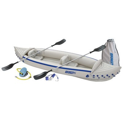 Sea Eagle Inflatable Kayak with Deluxe And Sports Kayak Pro Solo Package