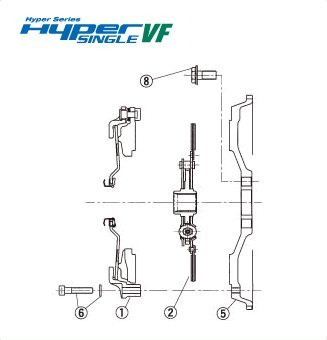 Exedy Clutch Hyper Single Plate - Exedy Hyper Single VF C.Cover Assy (CH54S)