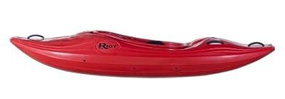 Riot Kayaks Thunder 76 Whitewater River Running Kayak (Red, 8-Feet)