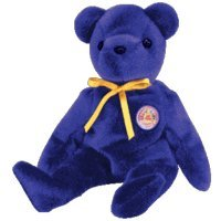 TY Beanie Baby - SAPPHIRE the Bear (BBOM May 2004)