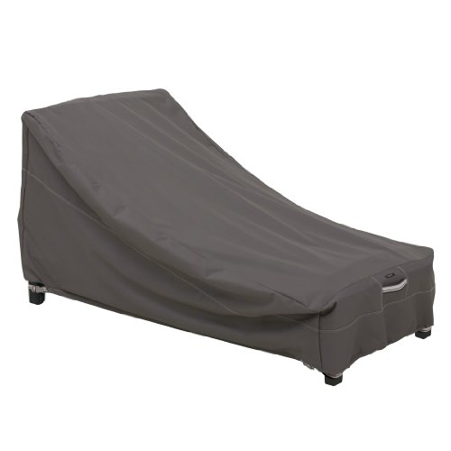 Classic Accessories Ravenna Patio Day Chaise Lounge Cover – Premium Outdoor Furniture Cover with Durable and Water Resistant Fabric, Large (55-163-045101-EC)
