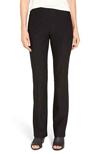 Eileen Fisher Washable Stretch Crepe Black Slim Boot Cut Pants 2X
