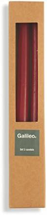 Cire 2 x 2 x 25 cm Galileo Casa Cannelle Set de Bougies Rouge