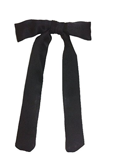 United Mask & Party Western Clip-on Black Satin Tie