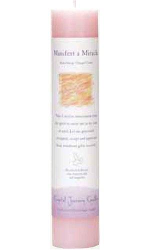 Herbal Magic Pillar Candle (Crystal Journey Herbal Magic Pillar Candle - Manifest a Miracle)