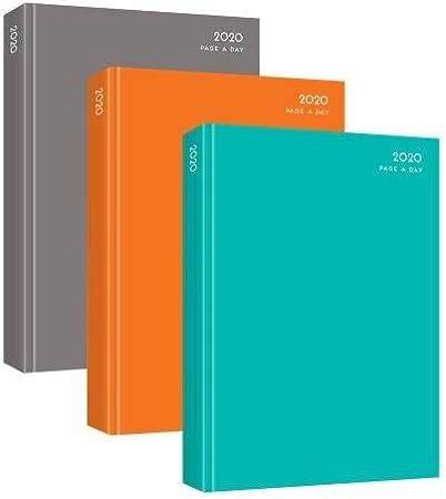 Agenda de 2020, tapa dura, tamaño A4, con páginas por día, varios ...