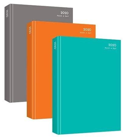 Agenda de 2020, tapa dura, tamaño A4, con páginas por día, varios colores