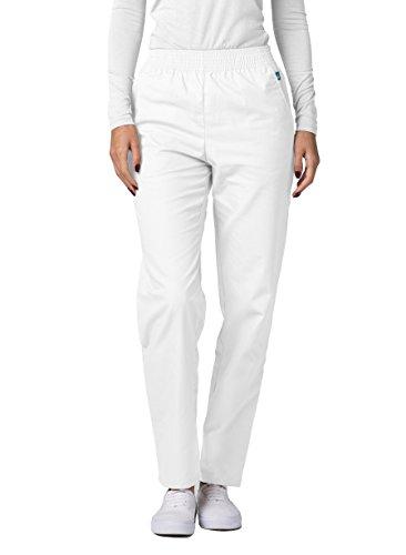 Adar Universal Classic Comfort Natural-Rise Tapered Leg Pants Petite - 502P - White - M