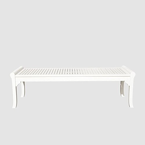 Bradley Eco-friendly Backless Outdoor Garden Bench