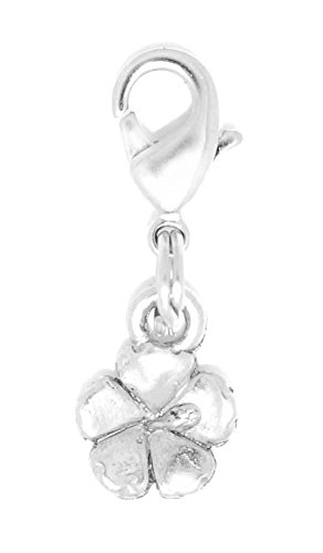 Plumeria Clasp Bracelet - Clayvision Hawaiian Hibiscus Flower Charm Zipper Pull for bracelets and decoration