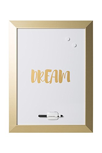 MasterVision Quote Magnetic Dry Erase Board, DREAM, Gold Frame, 18 x 24 Inches (MM04443612) (Gold Frame Magnet)