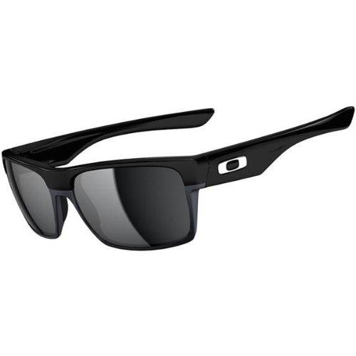 Oakley Twoface OO9189-02 Rectangular Sunglasses,Polished Black/Black Iridium Lens,55 mm