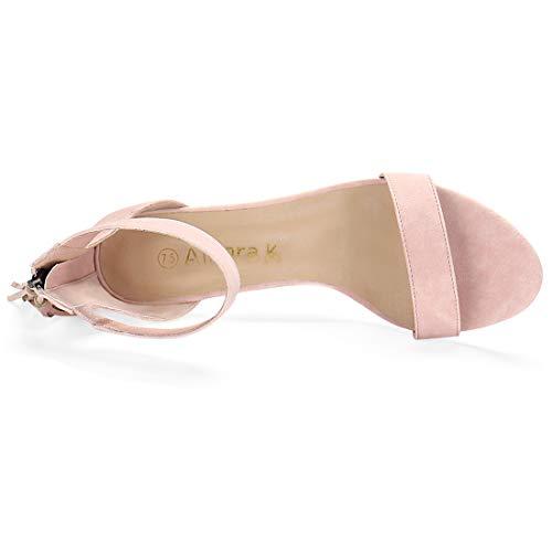 K Sandal Tassel Allegra Women Pink Heeled Strap Light Ankle 76SnwHdRnq